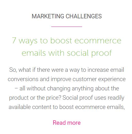 Ecommerce social proof blog