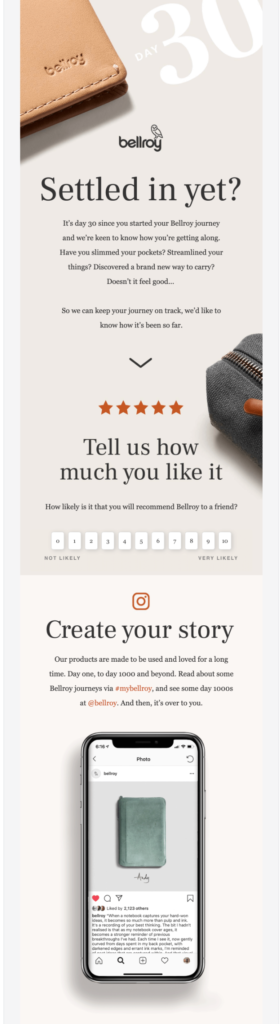 Bellroy social media reviews