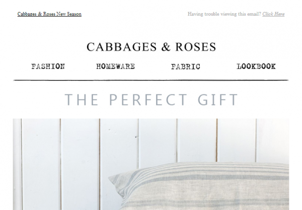 Cabbages & Roses / Click for Full Email
