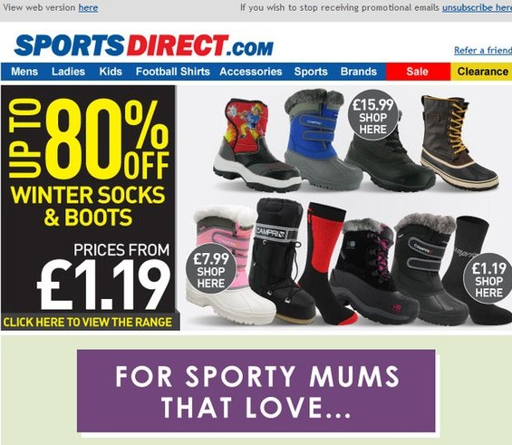 SportsDirect.com / Click for Full Email