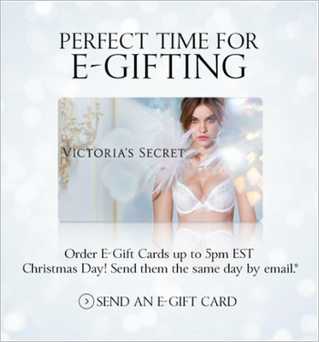 Victoria Secret. E-gifting. Send an E-gift card