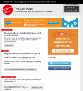 Econsultancy email with Dynamic Content