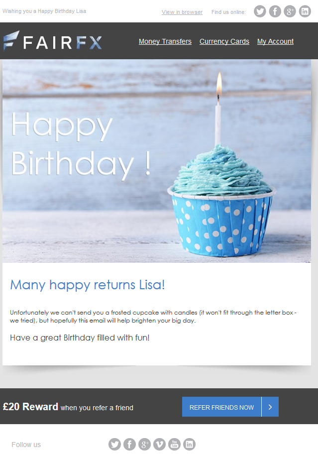 Birthday-email-