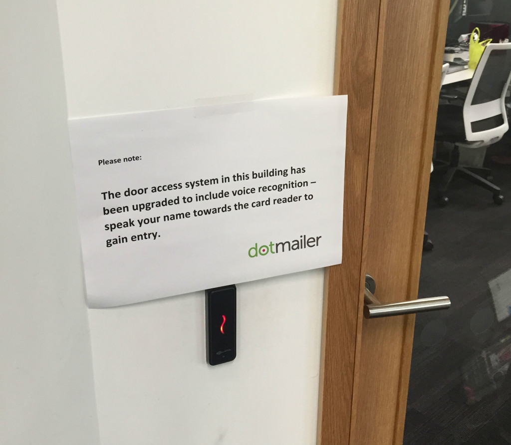 April Fool's at dotmailer HQ