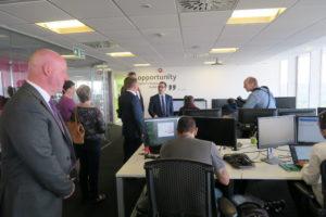 Owen Smith visiting dotdigital office