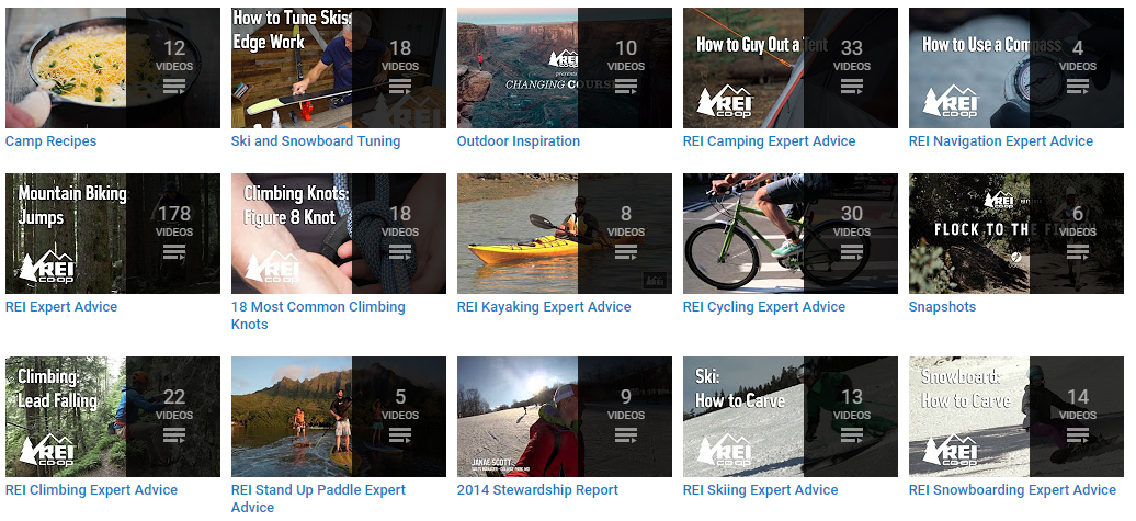 REI showing content in the most impactful locations of your website and communications.