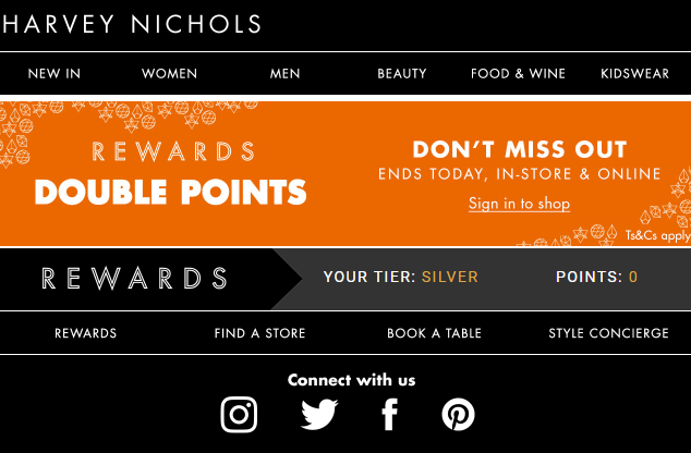Harvey Nichols loyalty program
