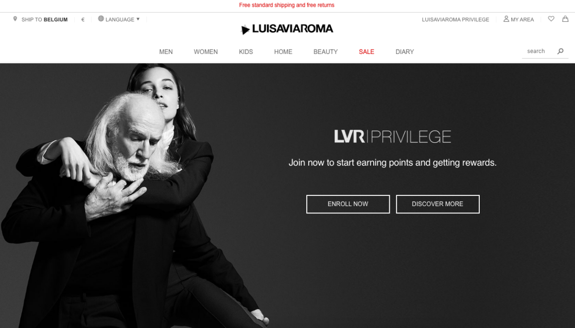Luisaviaroma loyalty program