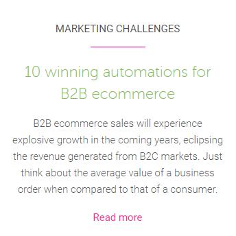 Ecommerce B2B blog