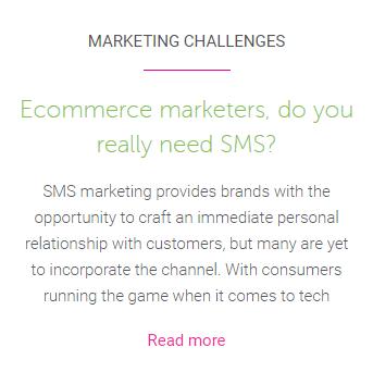 Ecommerce SMS blog