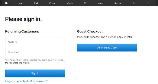 Guest checkout