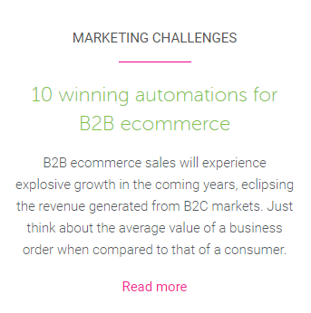 B2B automation blog suggestion