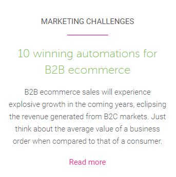 B2B automation blog suggestion