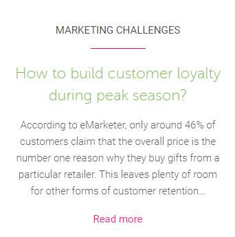Holiday customer loyalty