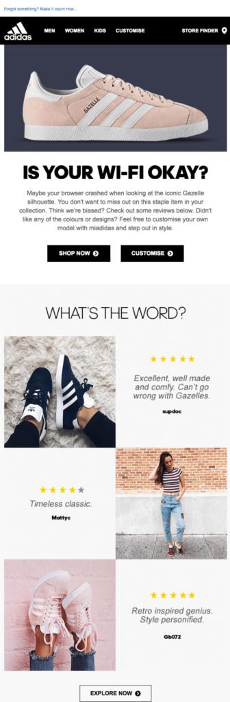 Adidas abandoned browse