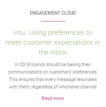 Intu Preference case study