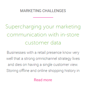 Supercharge your marketing communications with in-store customer data