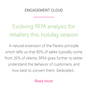 Evolving RFM analysis holiday blog