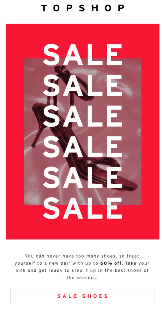 Sale email