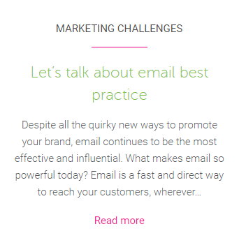 Email best practice blog
