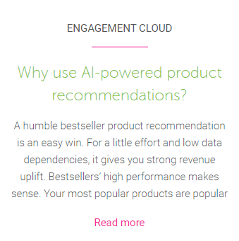 Link to AI product recommendation blog