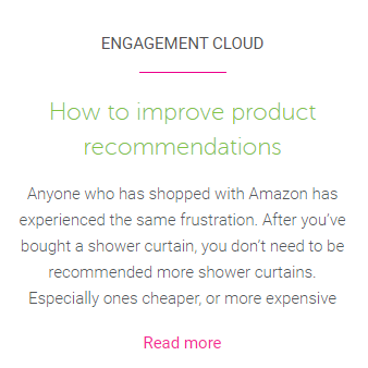 Link to how to improve product recommendations blog