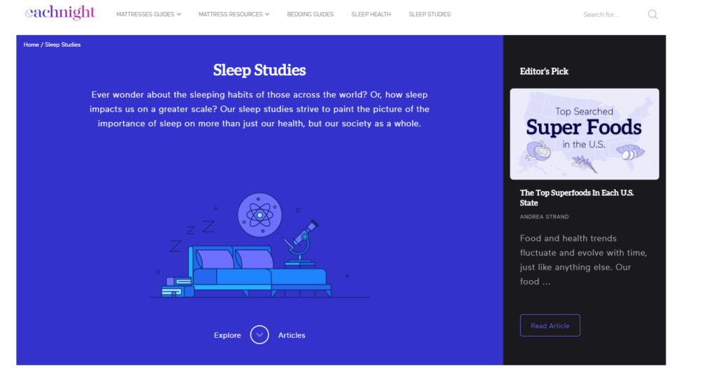 Sleep health using data