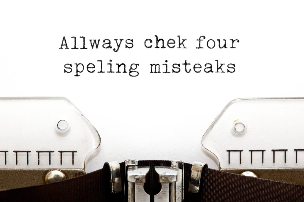 Typewriter check for spelling mistakes
