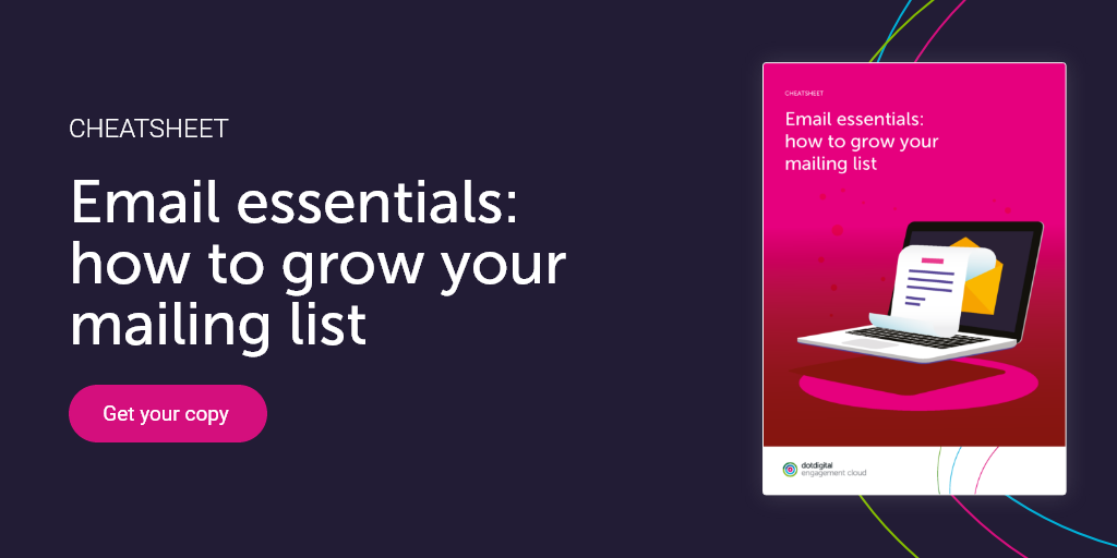 Preview to cheatsheet how to grow your mailing list