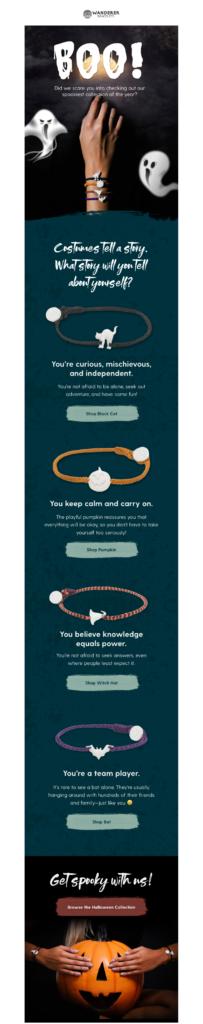 Wanderer Bracelets Halloween marketing example