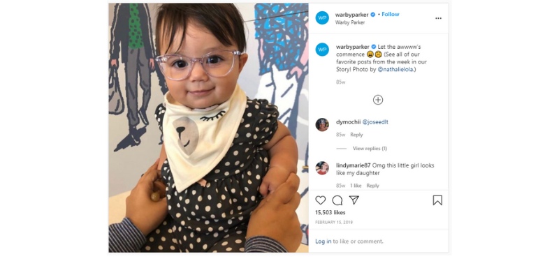 Warby Parker - ecommerce marketing tactic UGC