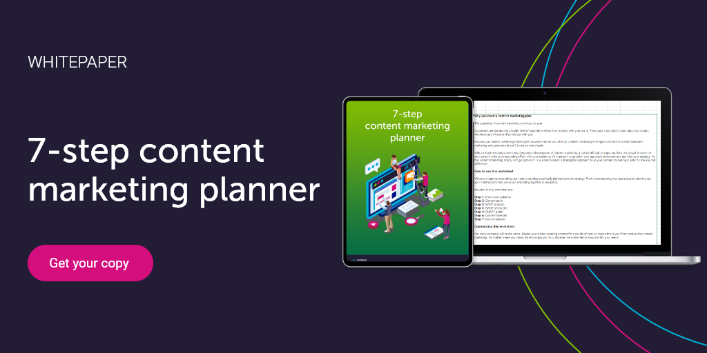 Content marketing planner