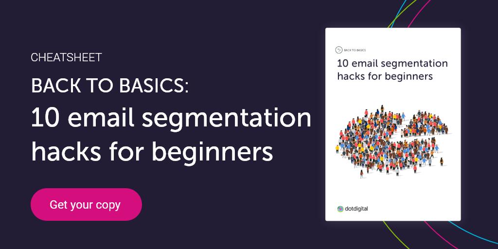 10 email segmentation hacks cheatsheet
