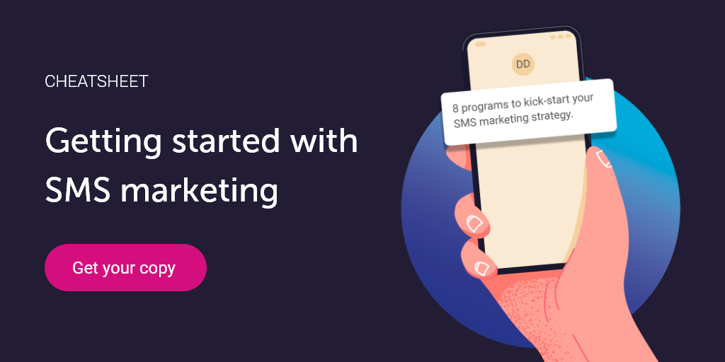 SMS marketing cheatsheet getting started