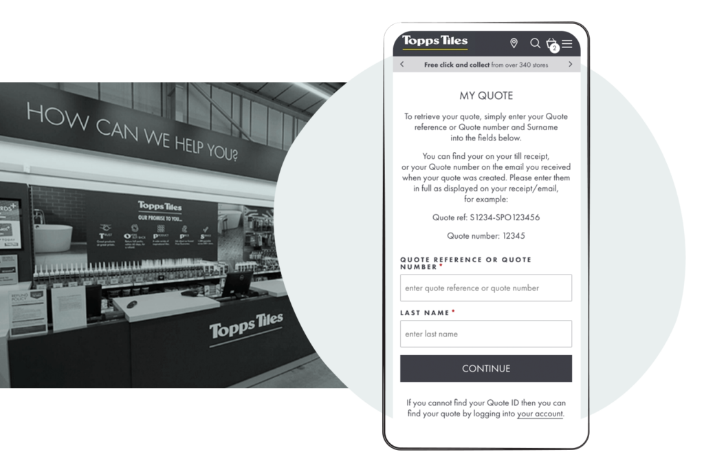 Topps Tiles in-store quotes for omnichannel experiences