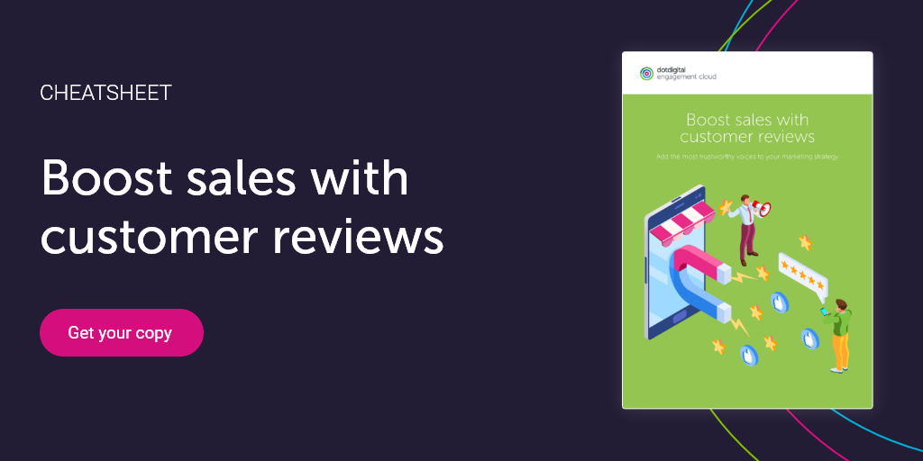 Boost sales with customer reviews cheatsheet